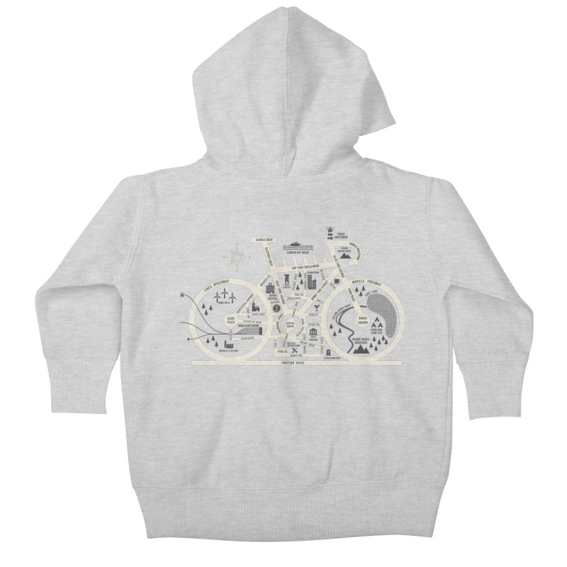 Bike City Map Kids Baby Zip-Up Hoody by spike00