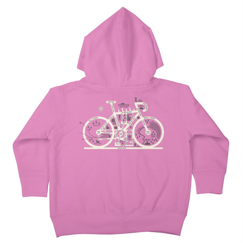 Bike City Map Kids Toddler Zip-Up Hoody by spike00