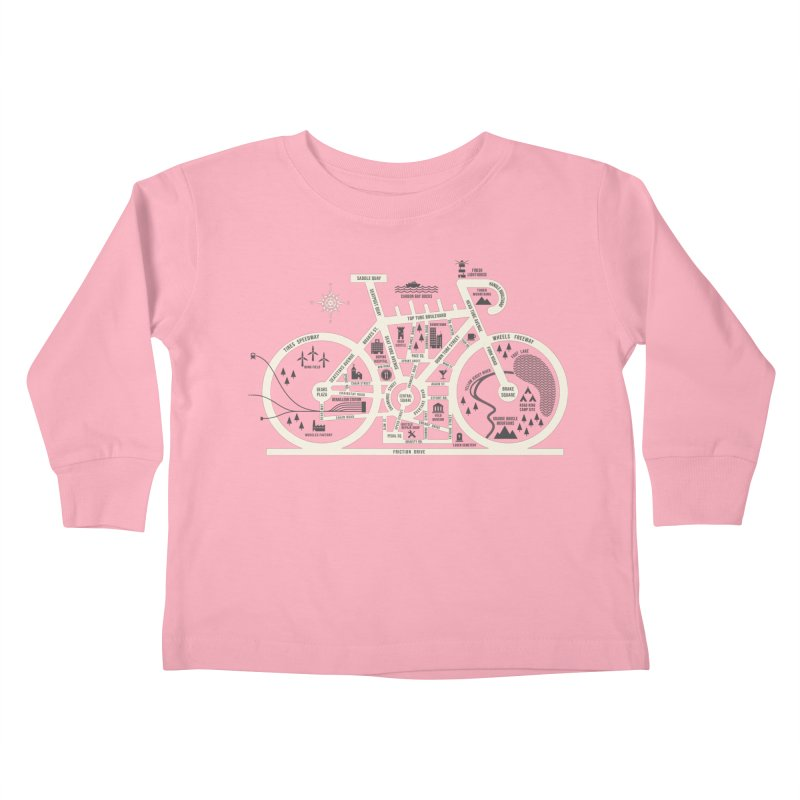 Bike City Map Kids Toddler Longsleeve T-Shirt by spike00