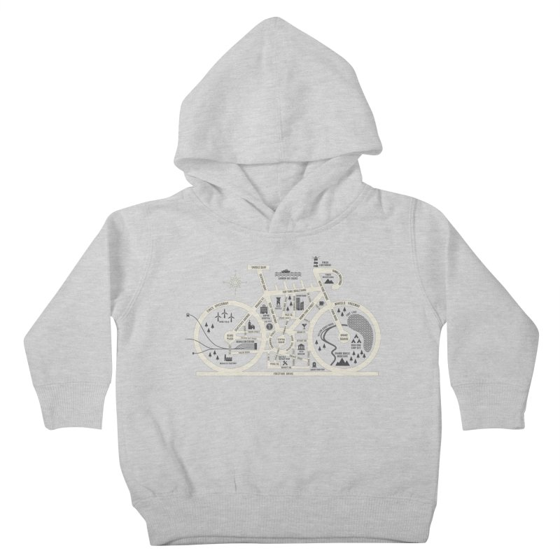 Bike City Map Kids Toddler Pullover Hoody by spike00