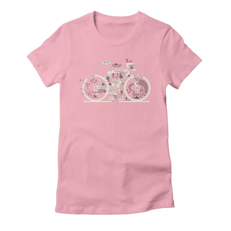 Bike City Map Women's Fitted T-Shirt by spike00