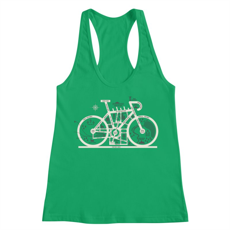 Bike City Map Women's Racerback Tank by spike00
