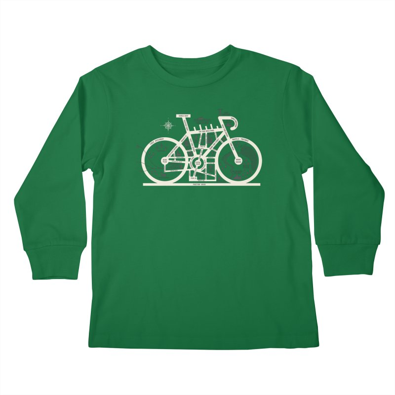 Bike City Map Kids Longsleeve T-Shirt by spike00
