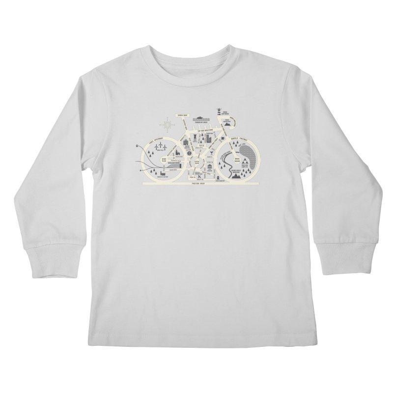 Bike City Map Kids Longsleeve T-Shirt by spike00
