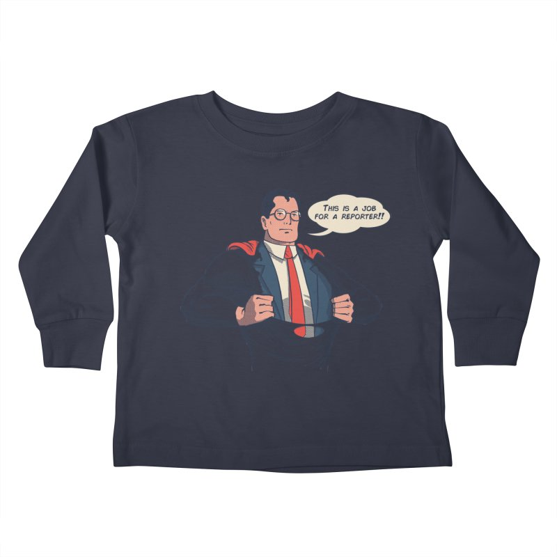 Super Reporter Kids Toddler Longsleeve T-Shirt by spike00