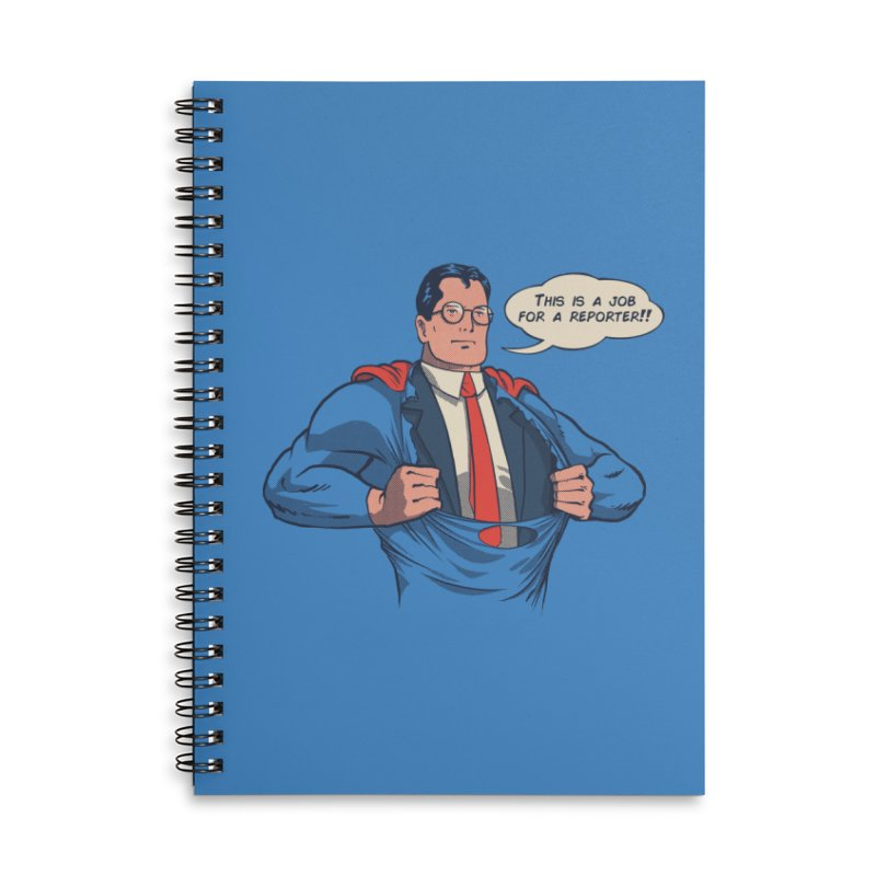 Super Reporter Accessories Lined Spiral Notebook by spike00