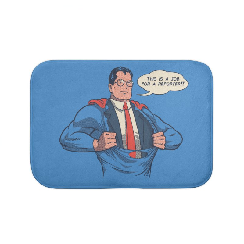 Super Reporter Home Bath Mat by spike00