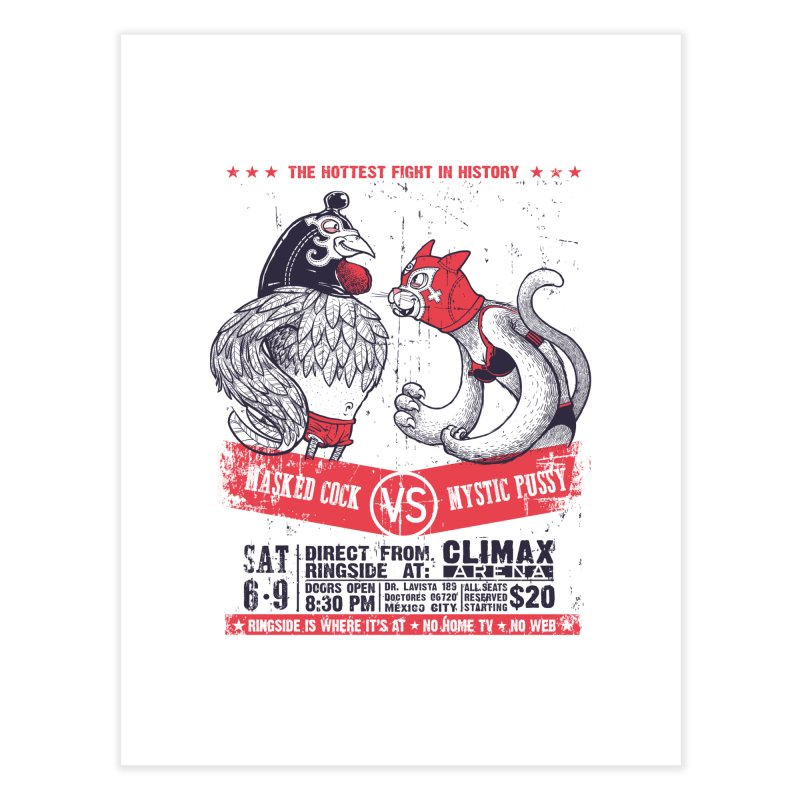 Hottest Fight Home Fine Art Print by spike00