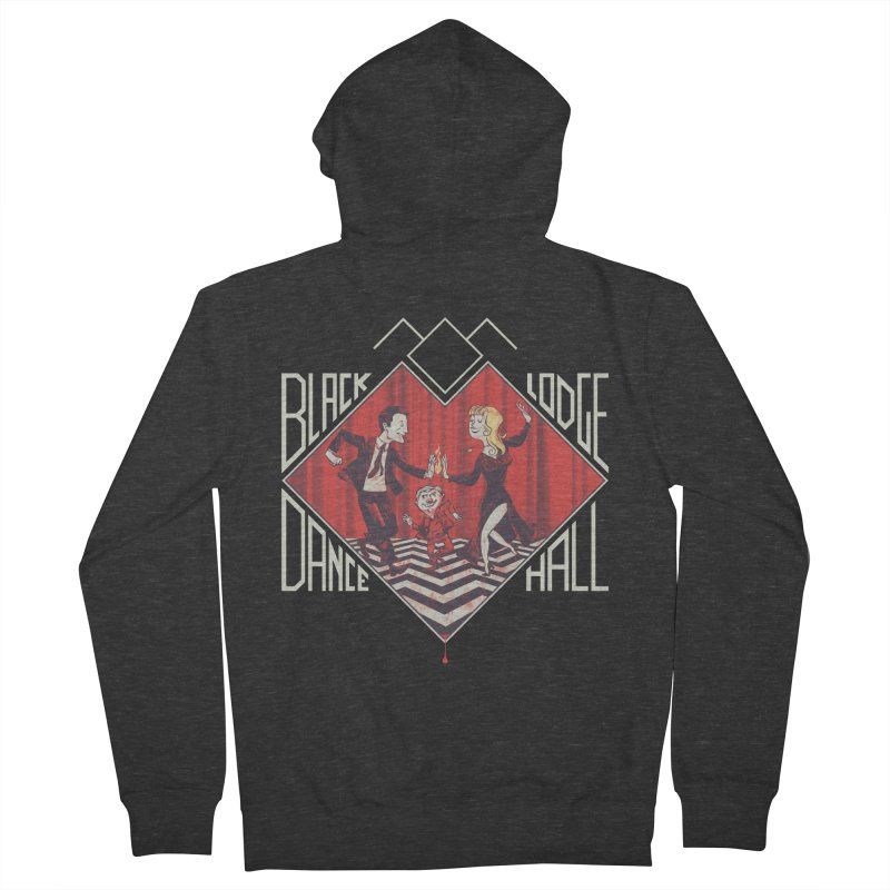 Black Lodge Dance Hall Men's Zip-Up Hoody by spike00