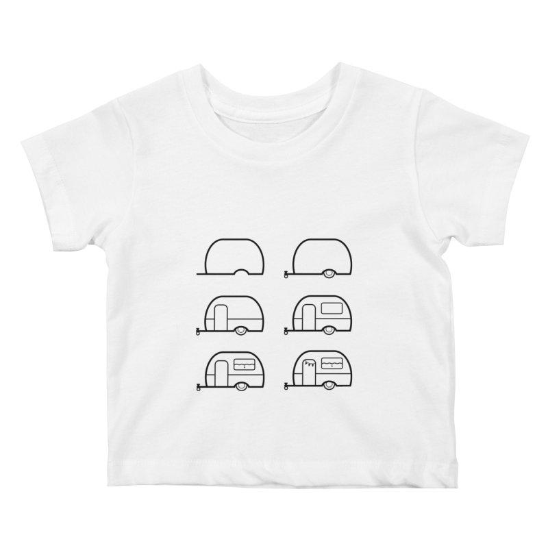 caravan Kids Baby T-Shirt by spinl's Artist Shop