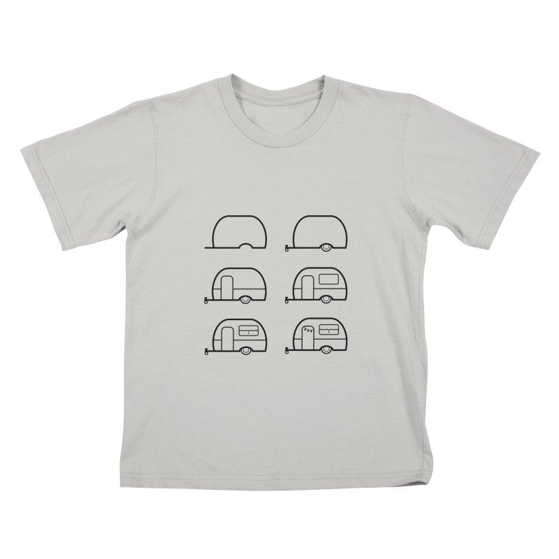caravan Kids T-Shirt by spinl's Artist Shop