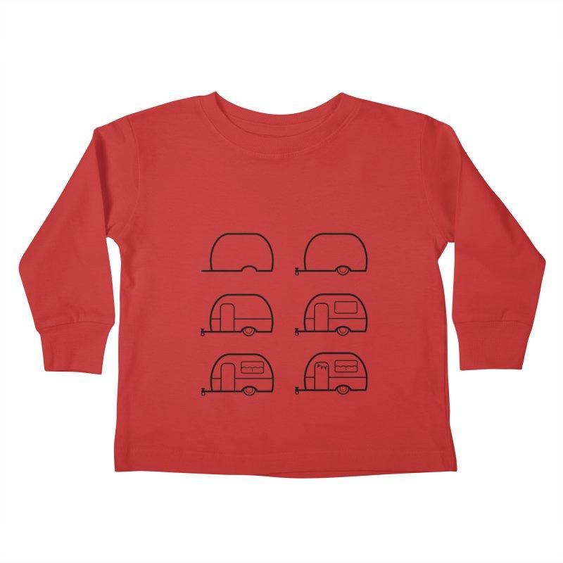 caravan Kids Toddler Longsleeve T-Shirt by spinl's Artist Shop