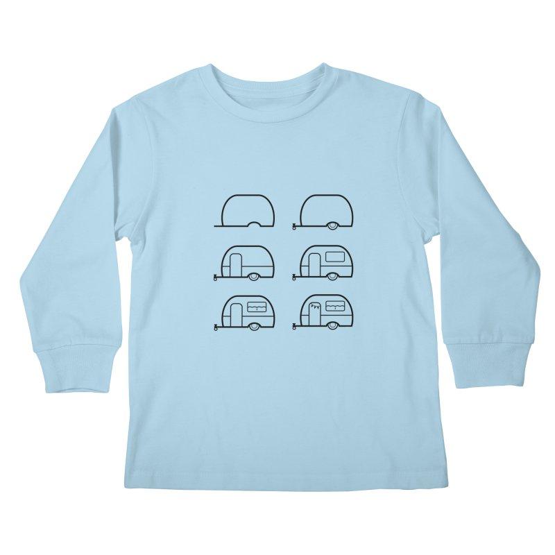 caravan Kids Longsleeve T-Shirt by spinl's Artist Shop