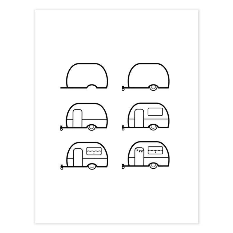 caravan Home Fine Art Print by spinl's Artist Shop