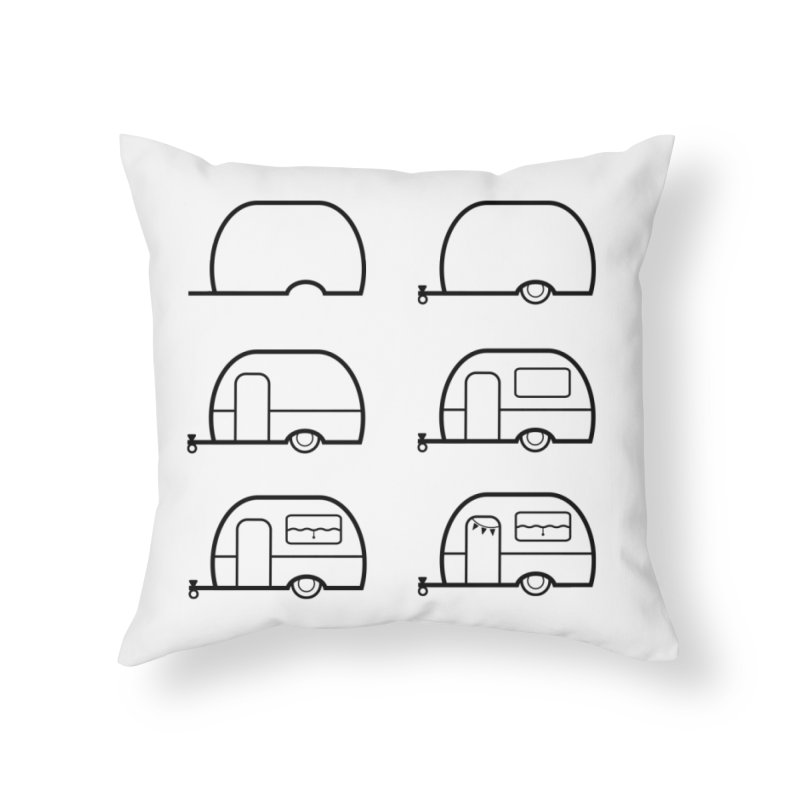 caravan Home Throw Pillow by spinl's Artist Shop