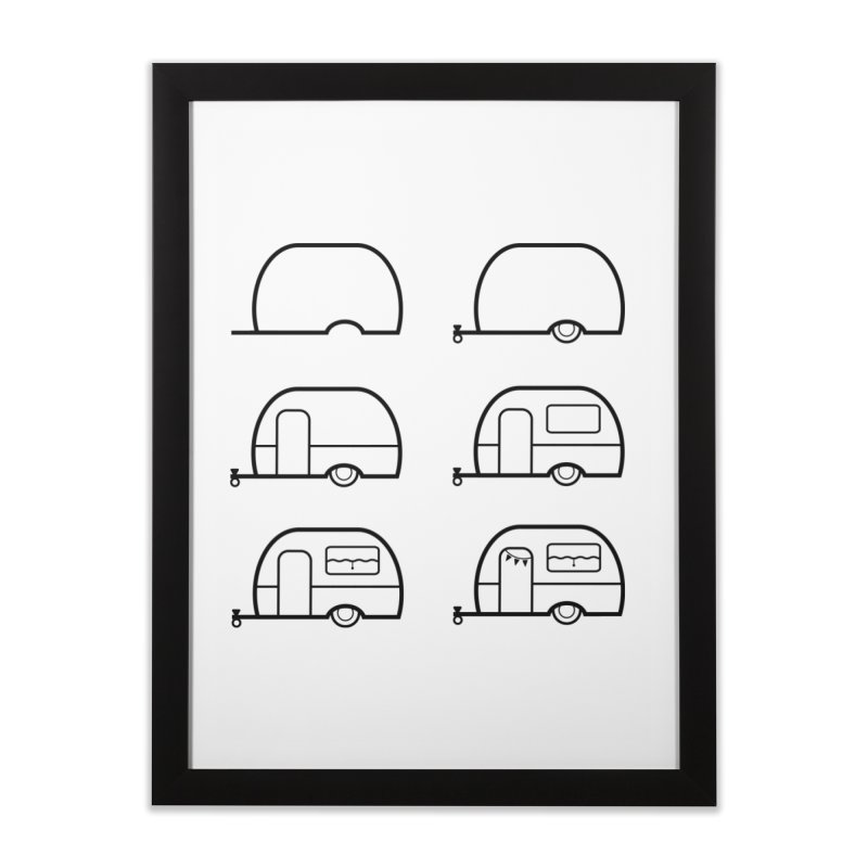 caravan Home Framed Fine Art Print by spinl's Artist Shop