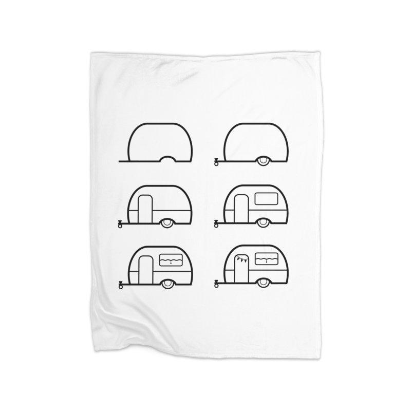 caravan Home Blanket by spinl's Artist Shop