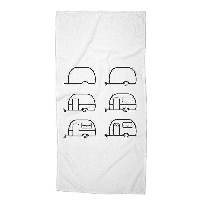 caravan Accessories Beach Towel by spinl's Artist Shop