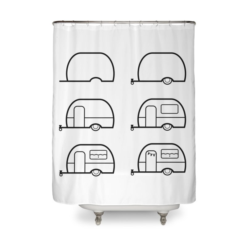 caravan Home Shower Curtain by spinl's Artist Shop