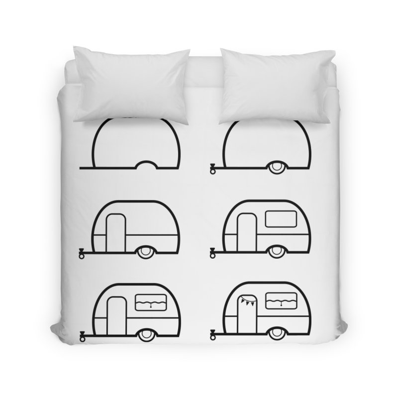 caravan Home Duvet by spinl's Artist Shop