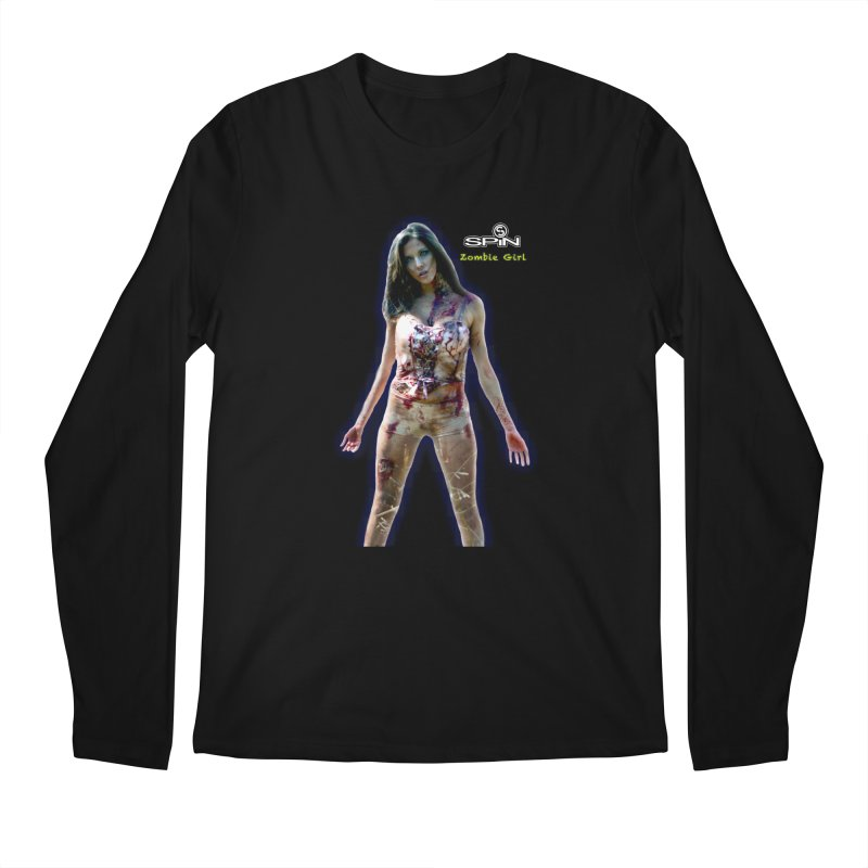 Zombie Girl Men's Regular Longsleeve T-Shirt by SPiN Shop
