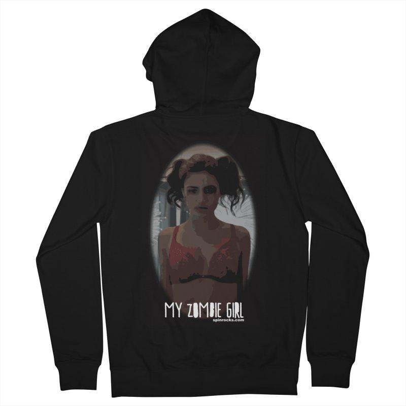 My Zombie Girl Men's French Terry Zip-Up Hoody by SPiN Shop