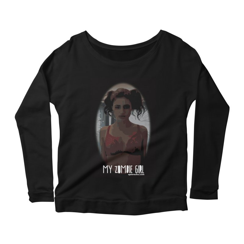 My Zombie Girl Women's Scoop Neck Longsleeve T-Shirt by SPiN Shop