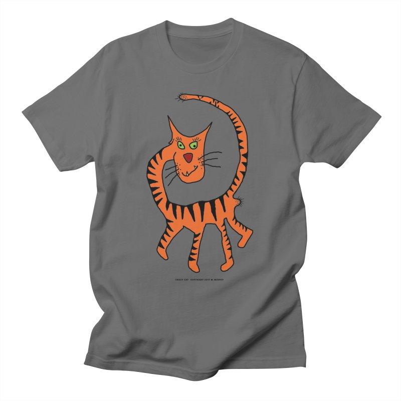 Crazy Cat Men's T-Shirt by Spiral Saint - Artist Shop