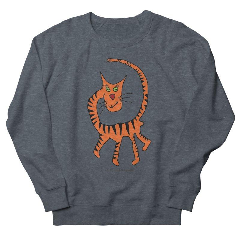 Crazy Cat Men's French Terry Sweatshirt by Spiral Saint - Artist Shop