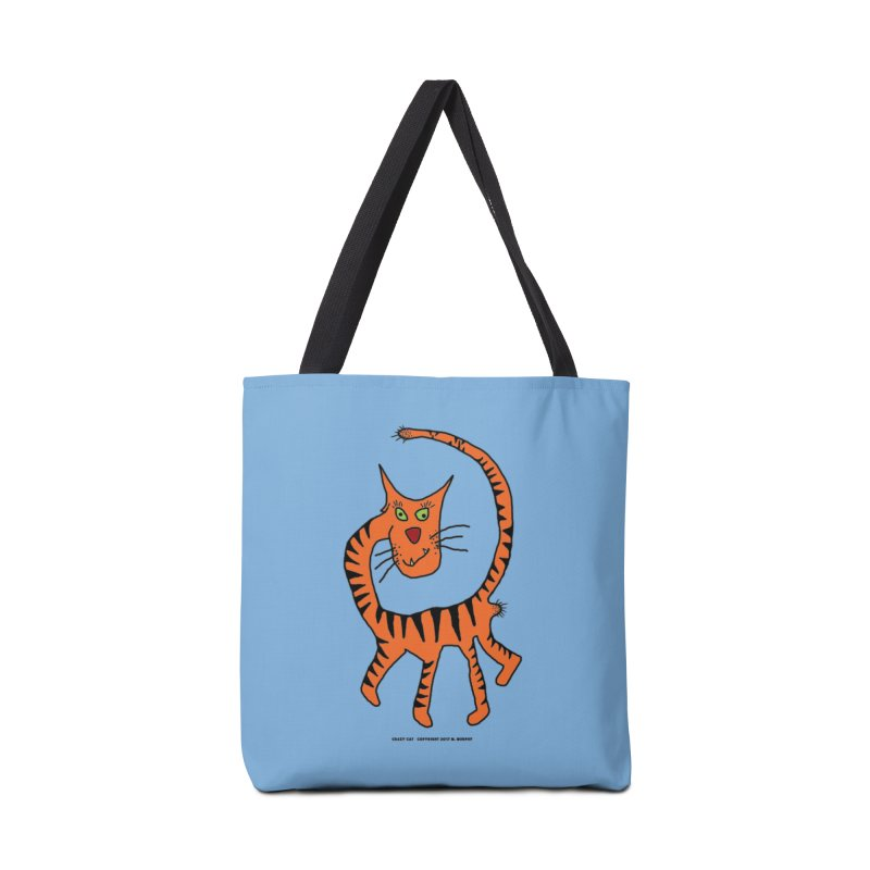 Crazy Cat Accessories Tote Bag Bag by Spiral Saint - Artist Shop