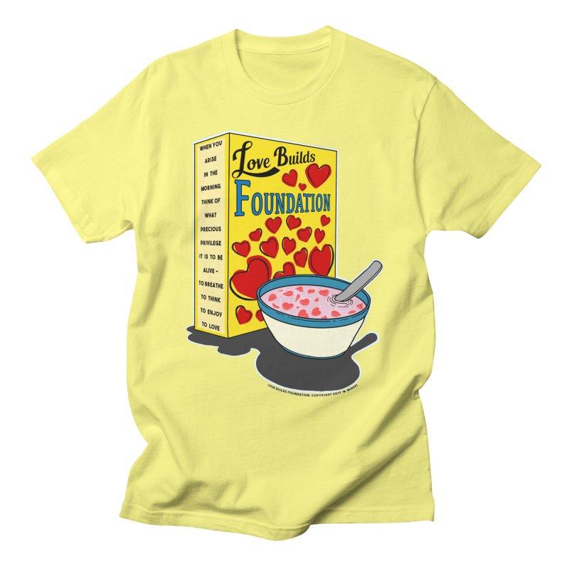 Love Builds Foundation Men's T-Shirt by Spiral Saint - Artist Shop