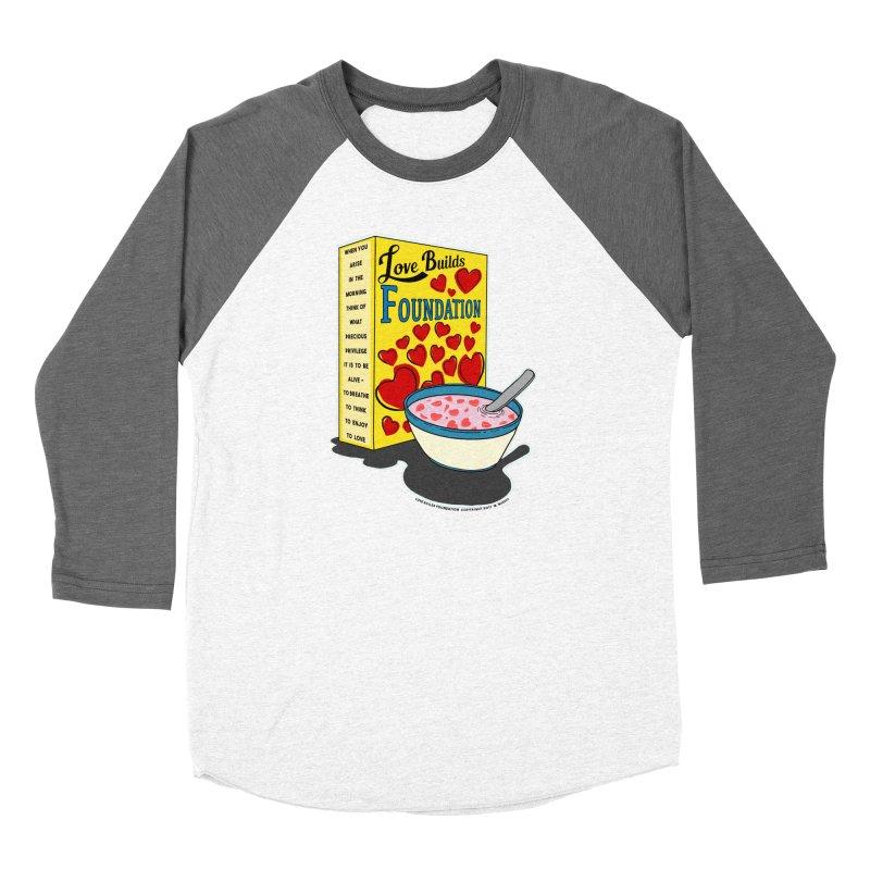 Love Builds Foundation Men's Baseball Triblend Longsleeve T-Shirt by Spiral Saint - Artist Shop