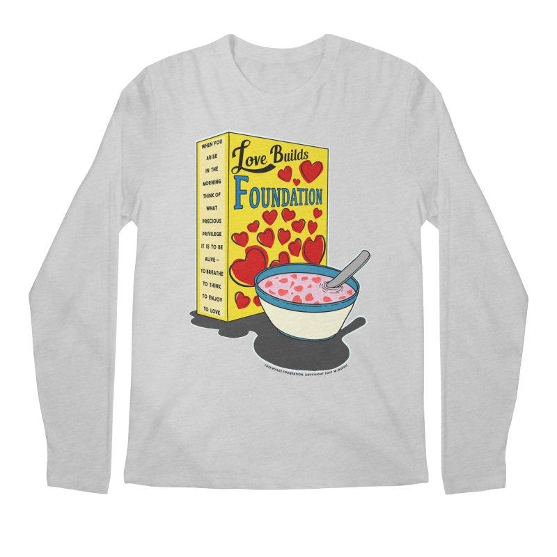 Love Builds Foundation Men's Longsleeve T-Shirt by Spiral Saint - Artist Shop