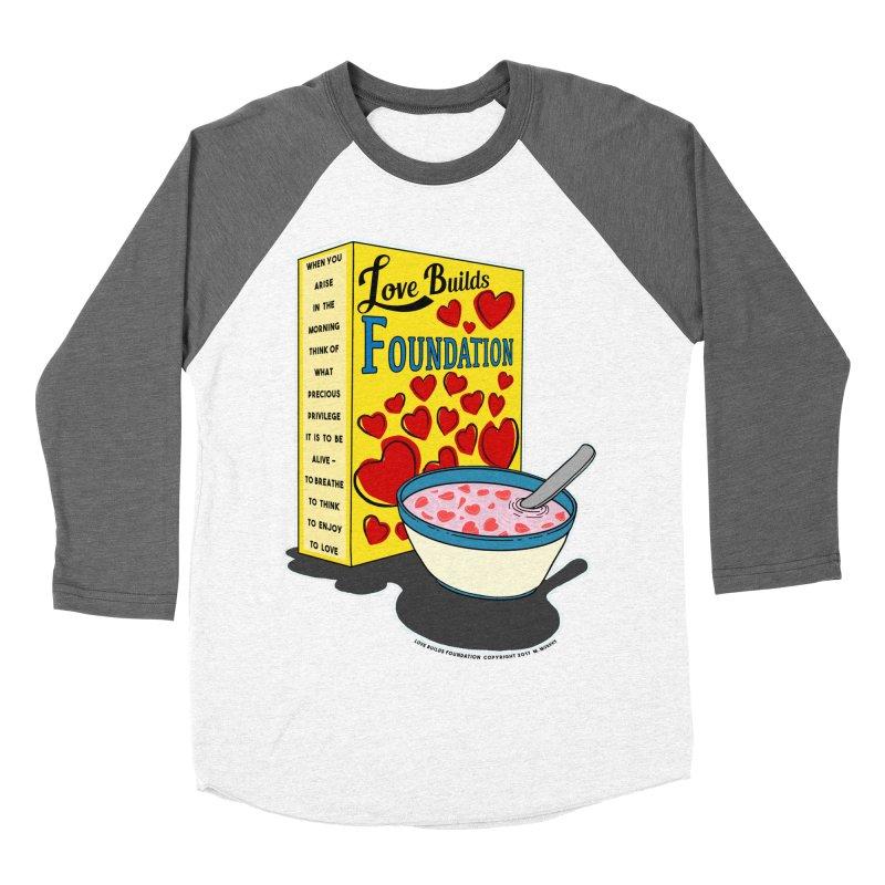 Love Builds Foundation Women's Baseball Triblend Longsleeve T-Shirt by Spiral Saint - Artist Shop