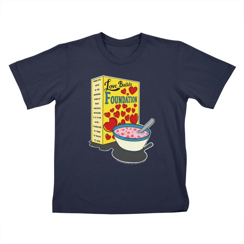 Love Builds Foundation Kids T-Shirt by Spiral Saint - Artist Shop