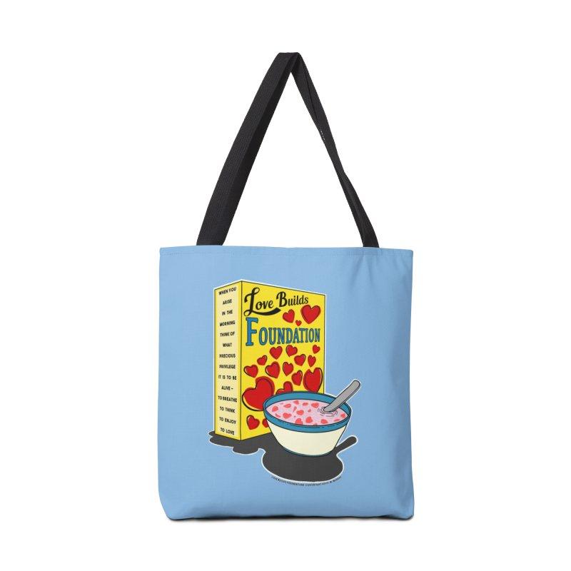 Love Builds Foundation Accessories Tote Bag Bag by Spiral Saint - Artist Shop