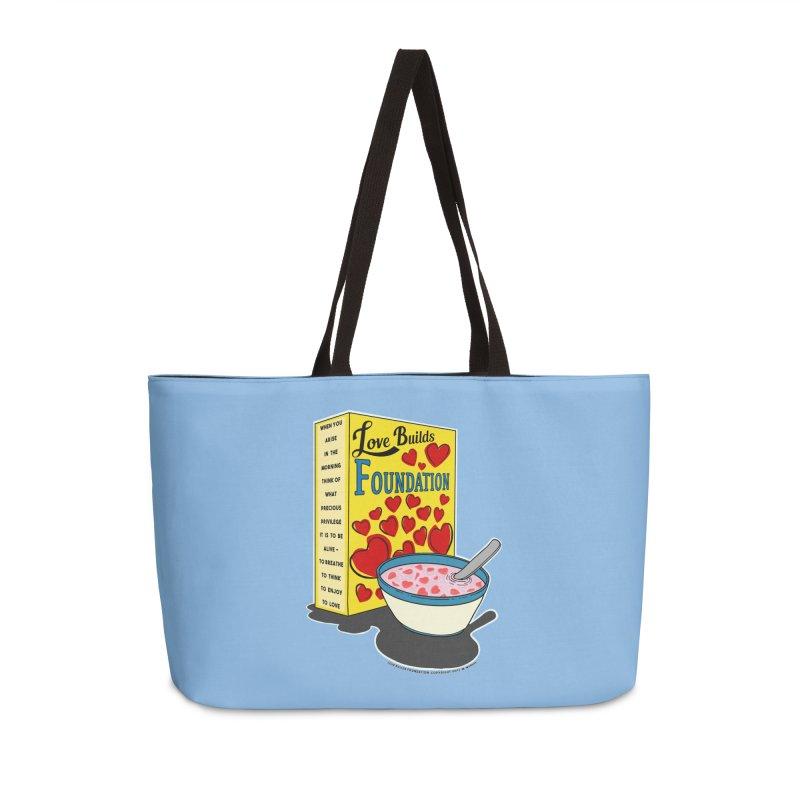 Love Builds Foundation Accessories Weekender Bag Bag by Spiral Saint - Artist Shop