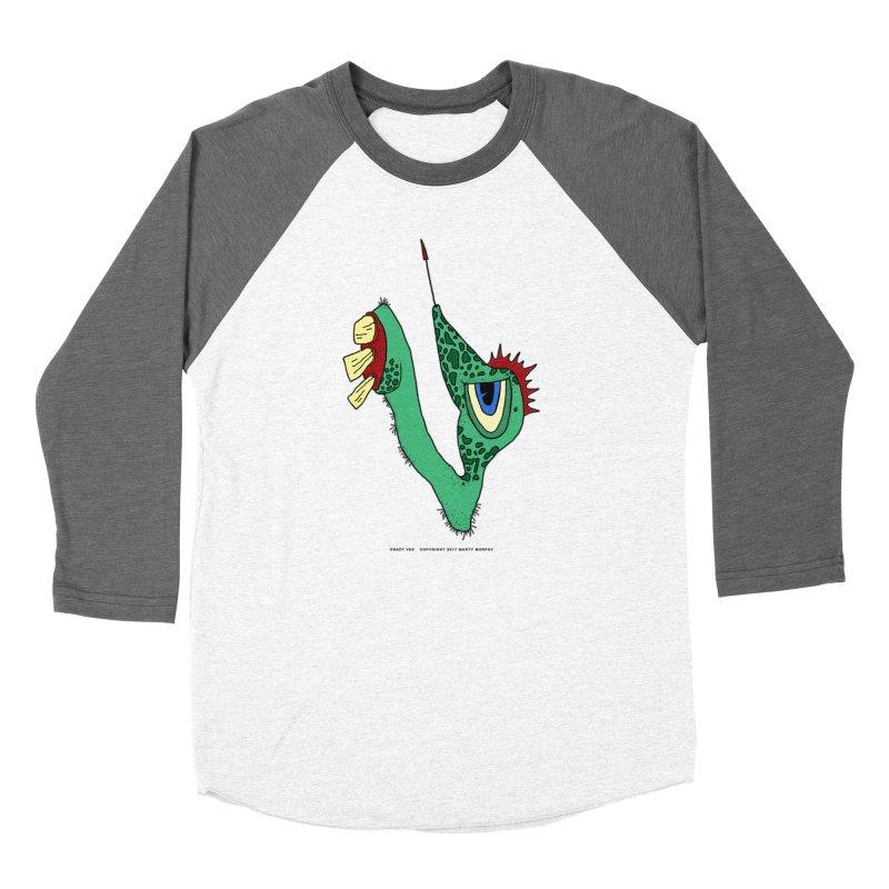 Crazy Vee Men's Baseball Triblend Longsleeve T-Shirt by Spiral Saint - Artist Shop