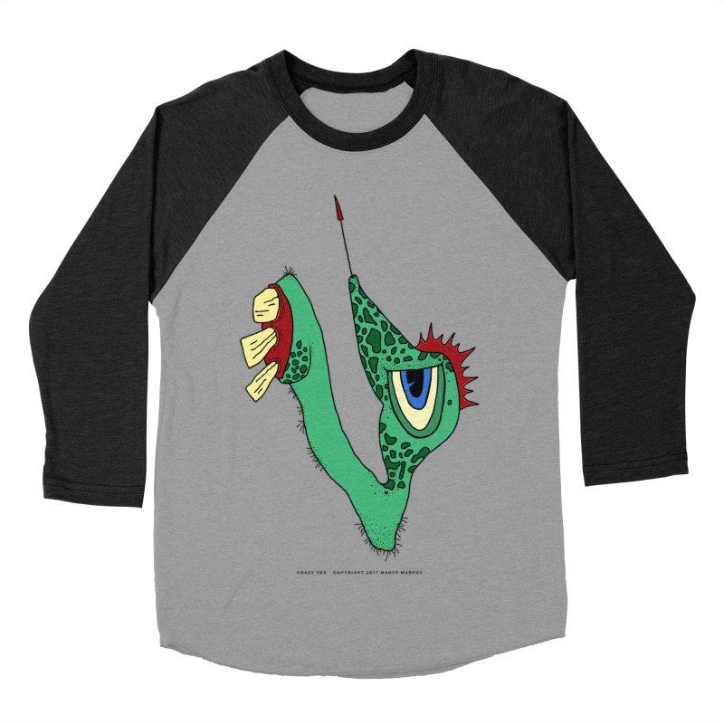 Crazy Vee Women's Baseball Triblend Longsleeve T-Shirt by Spiral Saint - Artist Shop