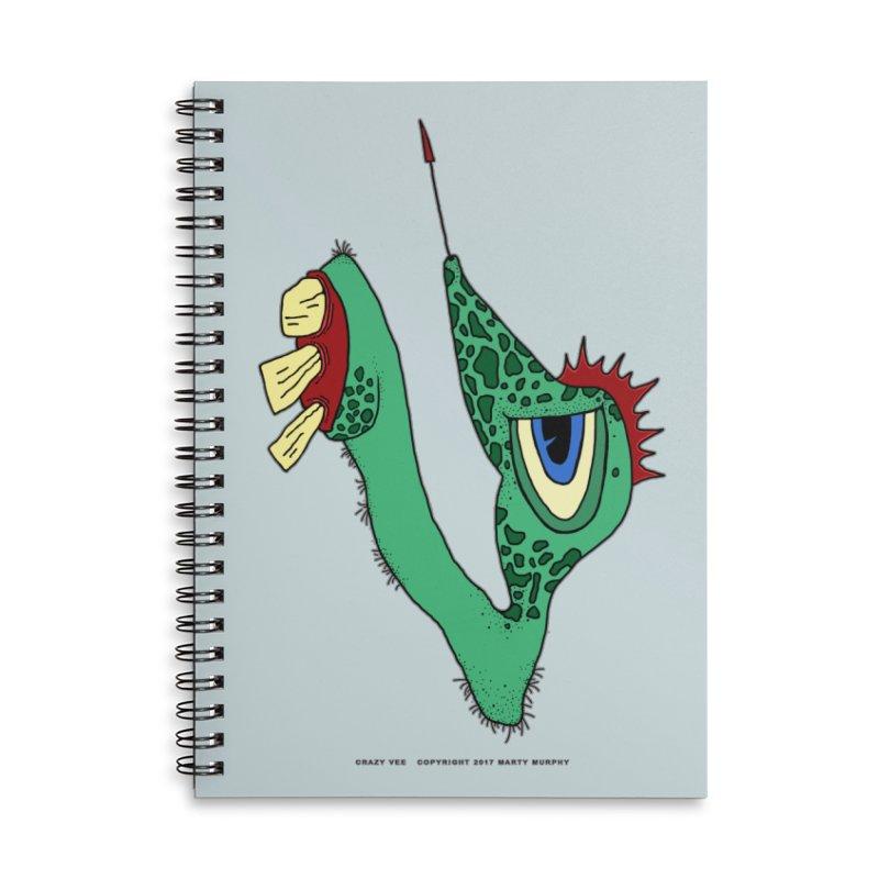 Crazy Vee Accessories Lined Spiral Notebook by Spiral Saint - Artist Shop