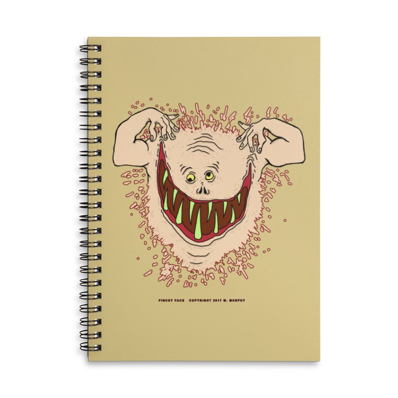 Pinchy Face Accessories Lined Spiral Notebook by Spiral Saint - Artist Shop
