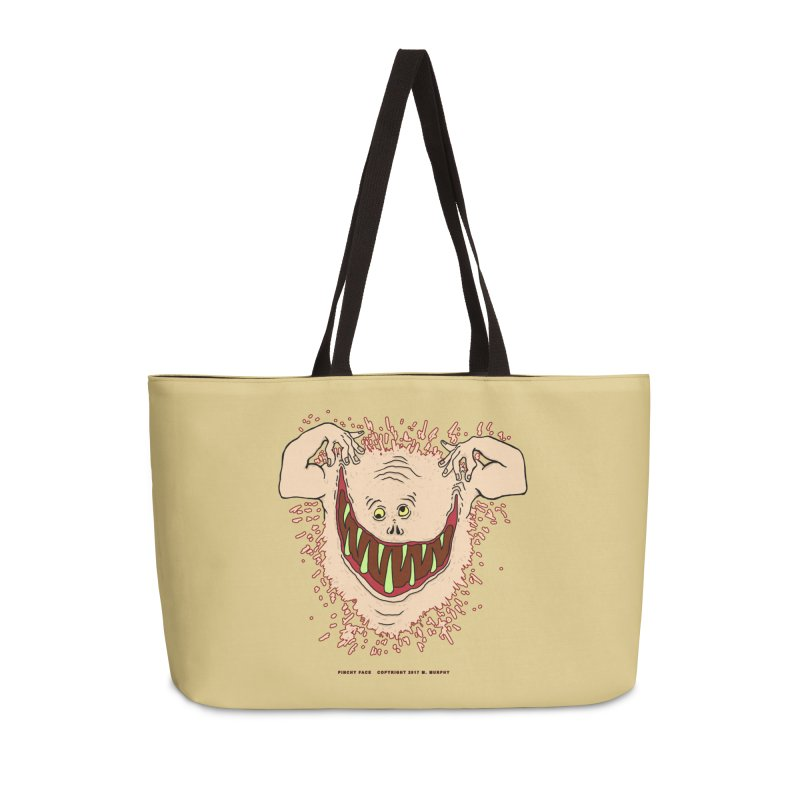 Pinchy Face Accessories Weekender Bag Bag by Spiral Saint - Artist Shop