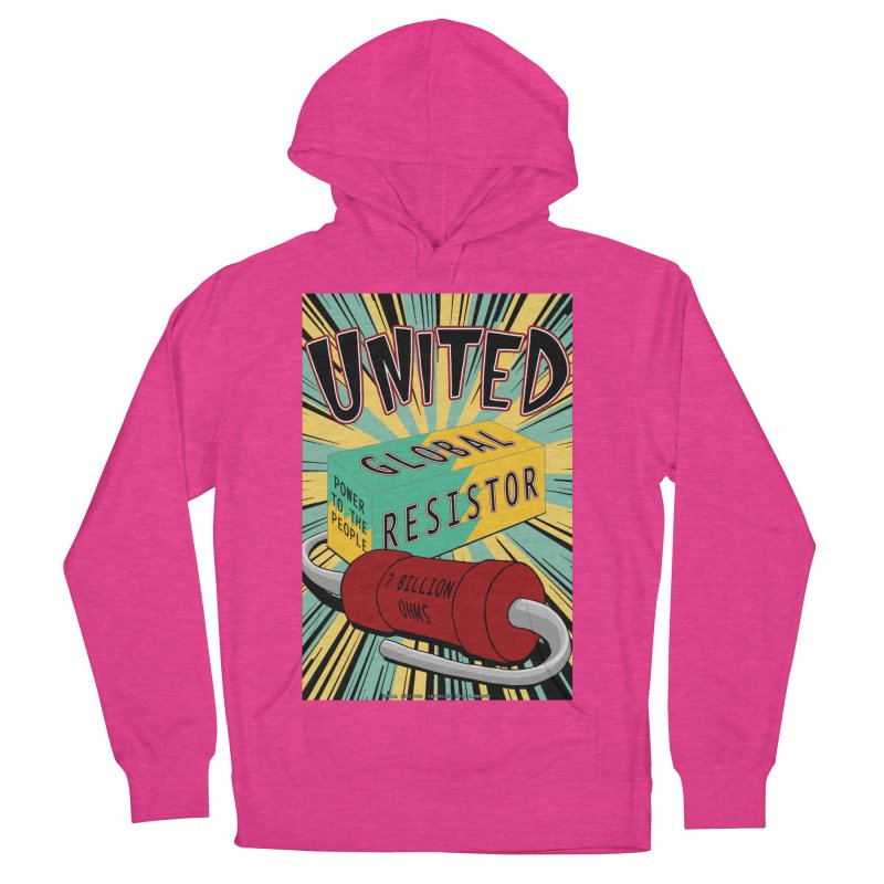 United Global Resistor Women's French Terry Pullover Hoody by Spiral Saint - Artist Shop