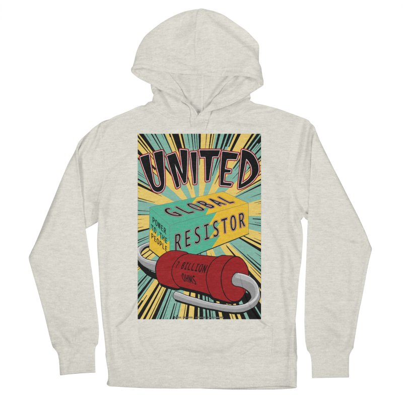 United Global Resistor Men's French Terry Pullover Hoody by Spiral Saint - Artist Shop