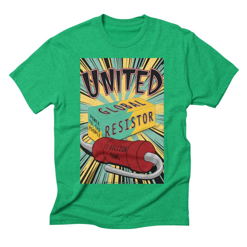 United Global Resistor Men's Triblend T-Shirt by Spiral Saint - Artist Shop