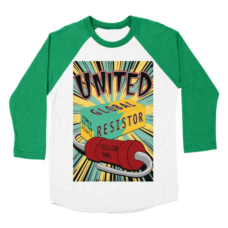 United Global Resistor Men's Baseball Triblend Longsleeve T-Shirt by Spiral Saint - Artist Shop