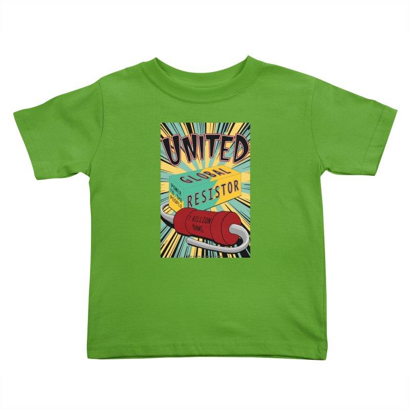 United Global Resistor Kids Toddler T-Shirt by Spiral Saint - Artist Shop