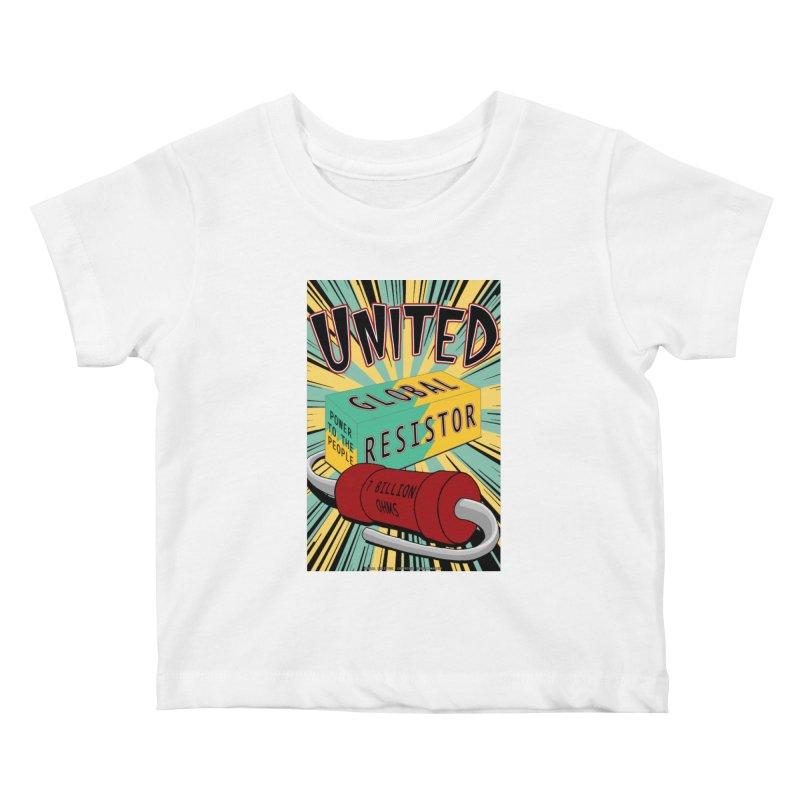 United Global Resistor Kids Baby T-Shirt by Spiral Saint - Artist Shop