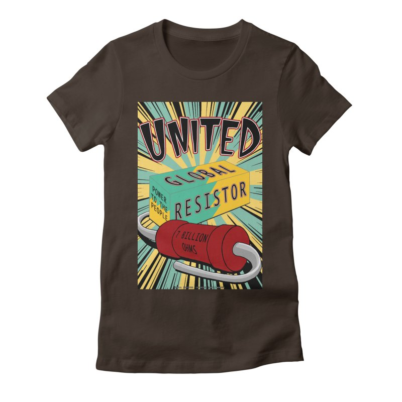 United Global Resistor Women's Fitted T-Shirt by Spiral Saint - Artist Shop