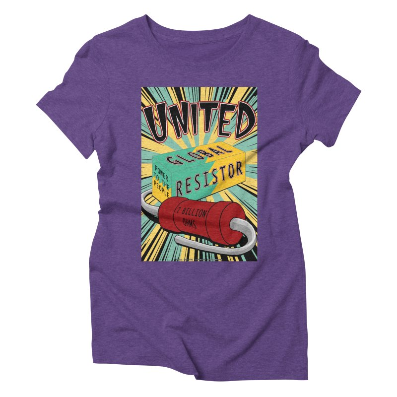 United Global Resistor Women's Triblend T-Shirt by Spiral Saint - Artist Shop